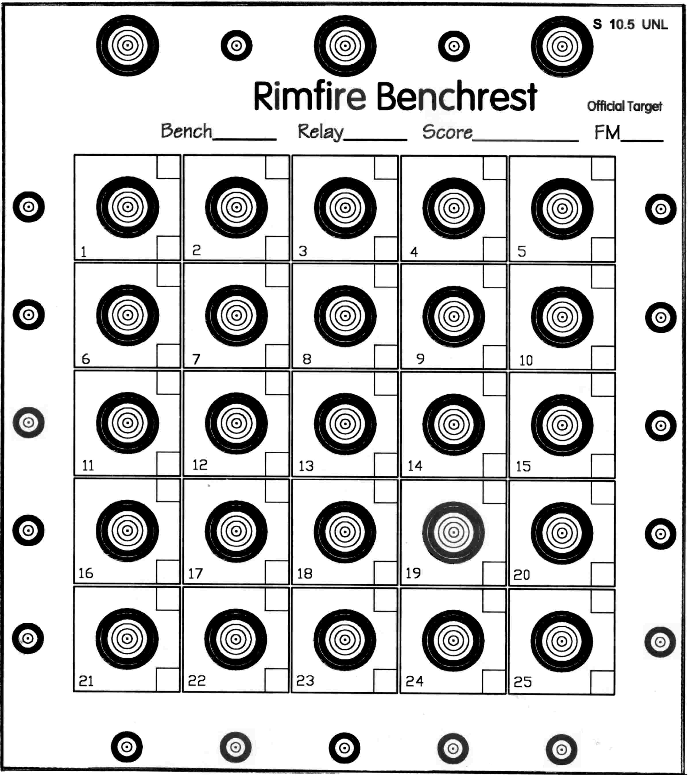 It is a photo of Irresistible Rimfire Targets Printable